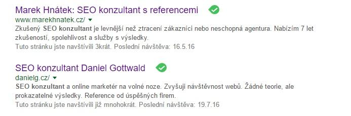 seo konzultant na Google